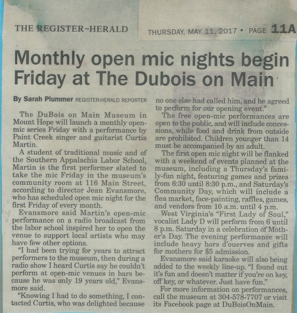 Open Mic-monthly