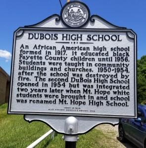 DuBois High marker